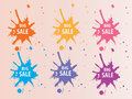 Big sale splash backround colorful abstract and Stock Photos