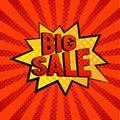 Big Sale star bubble comic style vector illustration