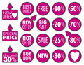 Big sale stickers illustration eps Royalty Free Stock Images