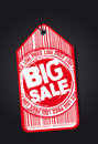Big sale tag Royalty Free Stock Photography