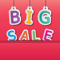 Big sale tag colorful paper tags on the red background Royalty Free Stock Photos