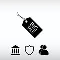 BIG SALE tag icon, vector illustration. Flat design style