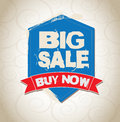 Big sale tag over vintage background vector illustration Stock Images