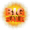 Big sale text on halftone pattern d eps Stock Image