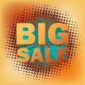 Big sale text on halftone pattern eps d and also includes Stock Image