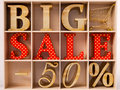 Big Sale text Royalty Free Stock Photo