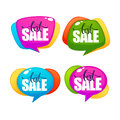 Big sale, vector collection of bright discount bubble tags Royalty Free Stock Photo