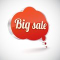 Big sale vector icon illustration bubble with metal texture Royalty Free Stock Photos