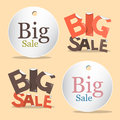 Big Sale Vector Labels - Tags Set Royalty Free Stock Photo
