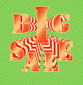Big sale on vivid background inscription vector illustration Stock Photo