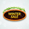 Big sale winter sale sign design template. Xmas season clearance discount. Market promotion advertising with fir