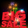 Big sale word salute vector on black background Royalty Free Stock Image