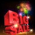 Big sale word salute vector isolated on black background Royalty Free Stock Photo