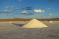 Big salt pile on Salar Uyuni salt lake Royalty Free Stock Photo