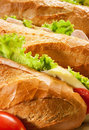 Big sandwiches Stock Photography