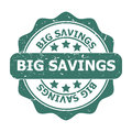 Big savings a badge on white background Royalty Free Stock Images