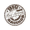 Big savings rubber stamp Stock Photos