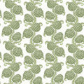 Big seamless decorative pattern of hop cones on white Royalty Free Stock Image