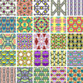 Big set of abstract retro style seamless patterns Royalty Free Stock Photo