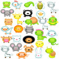 Big set of baby animals Royalty Free Stock Photos