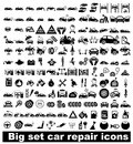Big set car repair icons Royalty Free Stock Photo