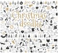 Big set of Christmas design elements in doodle style Royalty Free Stock Photo