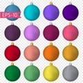 Big Set of colored Christmas balls. New Year. Celebration.
