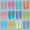 Big set of colorful flip flops Royalty Free Stock Photo