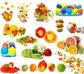 Big set of colorful food Royalty Free Stock Photos