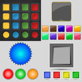Big set of different colored buttons trendy modern design for your web site vector illustration Stock Photo