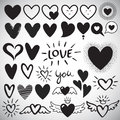 Big set of different design heart templates Royalty Free Stock Photo