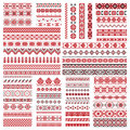 Big set of embroidery patterns Royalty Free Stock Photo