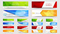 Big set of geometric polygonal banners Royalty Free Stock Photo