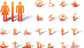 Big set icons - 19A. Pictographs of people Stock Images