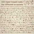 Big set of icons for different occasions hand drawn vector Royalty Free Stock Images