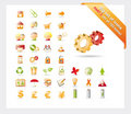 Big set of icons: PART 2 - see parts 1 and 3 Royalty Free Stock Image