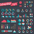 Big set of infographics elements Stock Photo