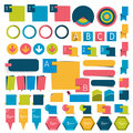 Big set infographics flat design buttons,elements, charts, buttons. Royalty Free Stock Photo