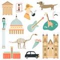 Big Set Of London Symbols And Attractions