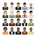 Big Set male faces of different races,avatar or icon