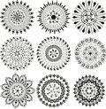 Big set of  mandala Royalty Free Stock Photo