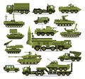 Big set of military equipment. Heavy, reservations and special transport. Equipment for the war. The missile, tanks, trucks,