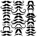 Big set of mustaches black silhouettes. Collection of men`s mustaches Royalty Free Stock Photo