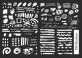 Big set of 190 objects Vector brushes Royalty Free Stock Photo
