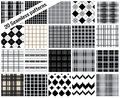 Big set patterns, plaid style , pattern swatches included for il Royalty Free Stock Photo