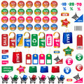 Big set of price tags and stickers Royalty Free Stock Photo