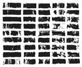 Big set of rectangular text box. Grunge paint stripe. Vector brush stroke. Black grunge spots with place for your text