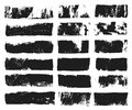 Big set of rectangular text box. Grunge paint stripe. Vector brush stroke. Black grunge spots with place for your text Royalty Free Stock Photo