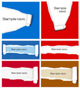 Big set of ripped colorful paper backgrounds. Royalty Free Stock Images