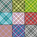 Big set  scottish seamless patterns Stock Images